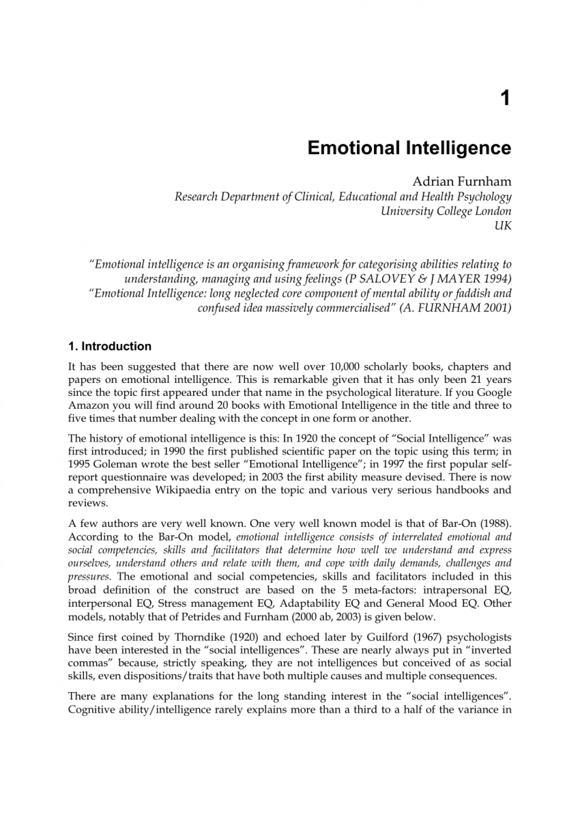 001 Emotional Intelligence Essay Largepreview Fantastic Topics Free Conclusion 1920