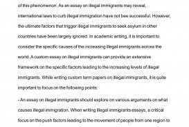 001 Essay About Immigration Argumentative On Illegal P Against Thesis Pro Outline Topics Marvelous In Canada Causes The United States