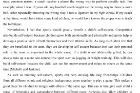 001 Essay About Sports Sample21 Awesome Sportsmanship Personal Spirit Of