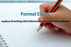 001 Essay Example  Definition Examples 111863 Best Formal Literary And Language Writing