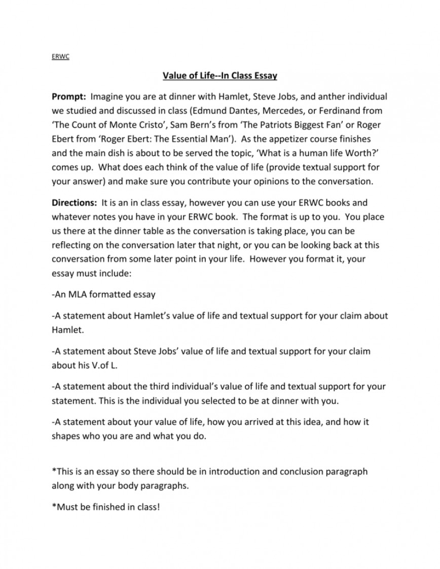 001 Essay Example 008007756 1 The Value Of Archaicawful Life Pdf True