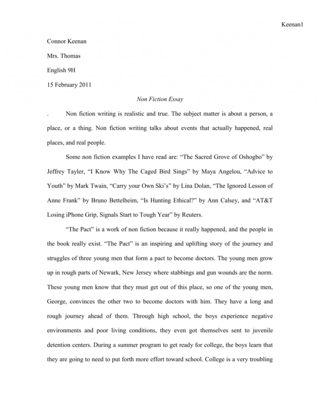 001 Essay Example 008040169 1 Imposing Fiction English 102 Writing Prompts For Middle School High Large