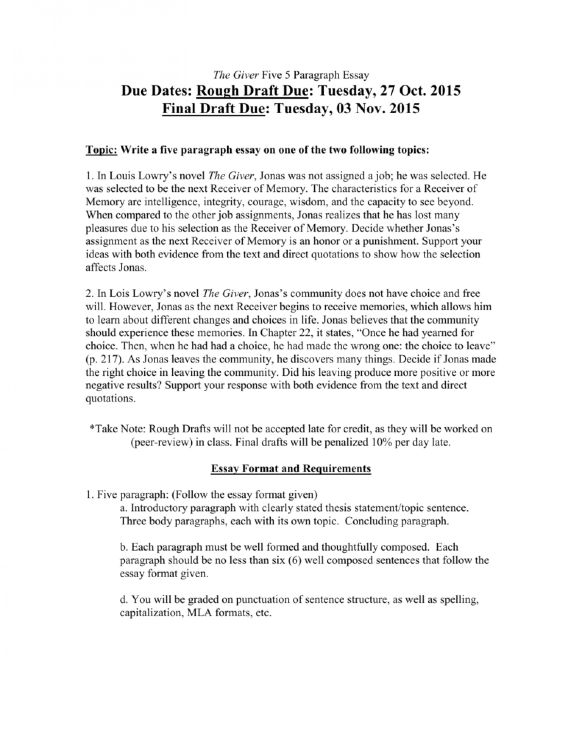 001 Essay Example 008063205 1 The Fearsome Giver Topics Ideas Questions 1920