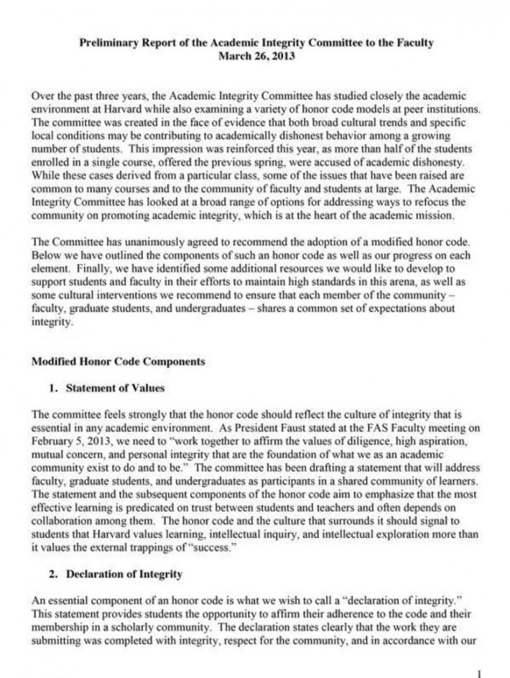 019 Essay Example Academic Integrity 007308909 1 Thatsnotus