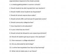 001 Essay Example 6th Grade Argumentative Topics Writing Prompts List Unique Sixth 6