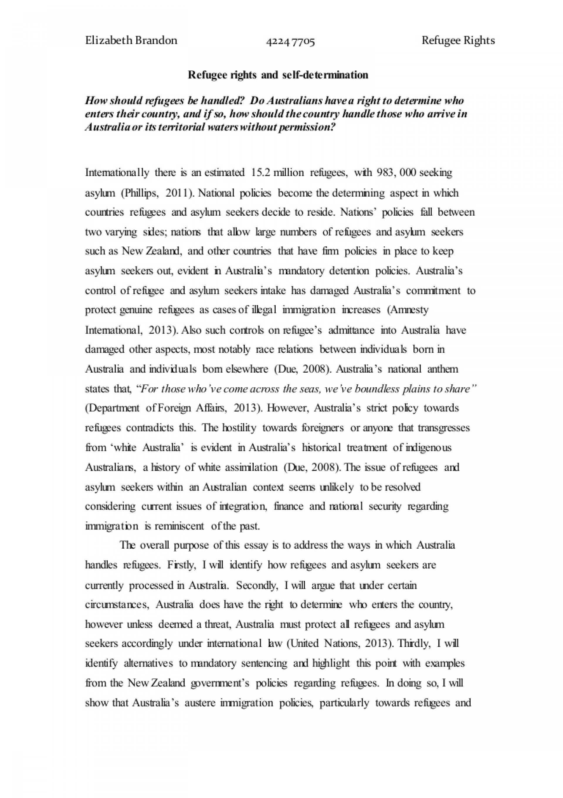 001 Essay Example About Staggering Refugees Syrian Argumentative Persuasive 1920