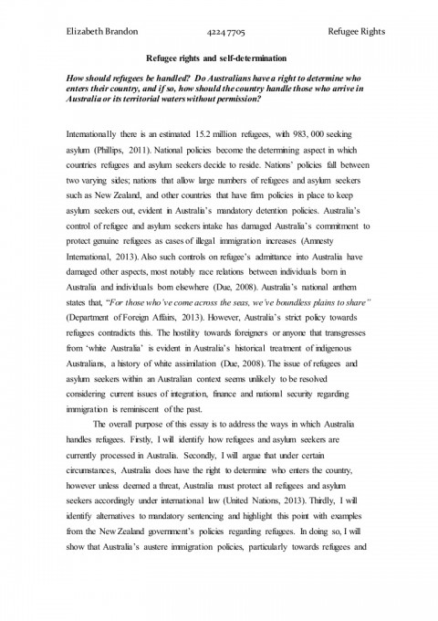 001 Essay Example About Staggering Refugees Syrian Argumentative Persuasive 480