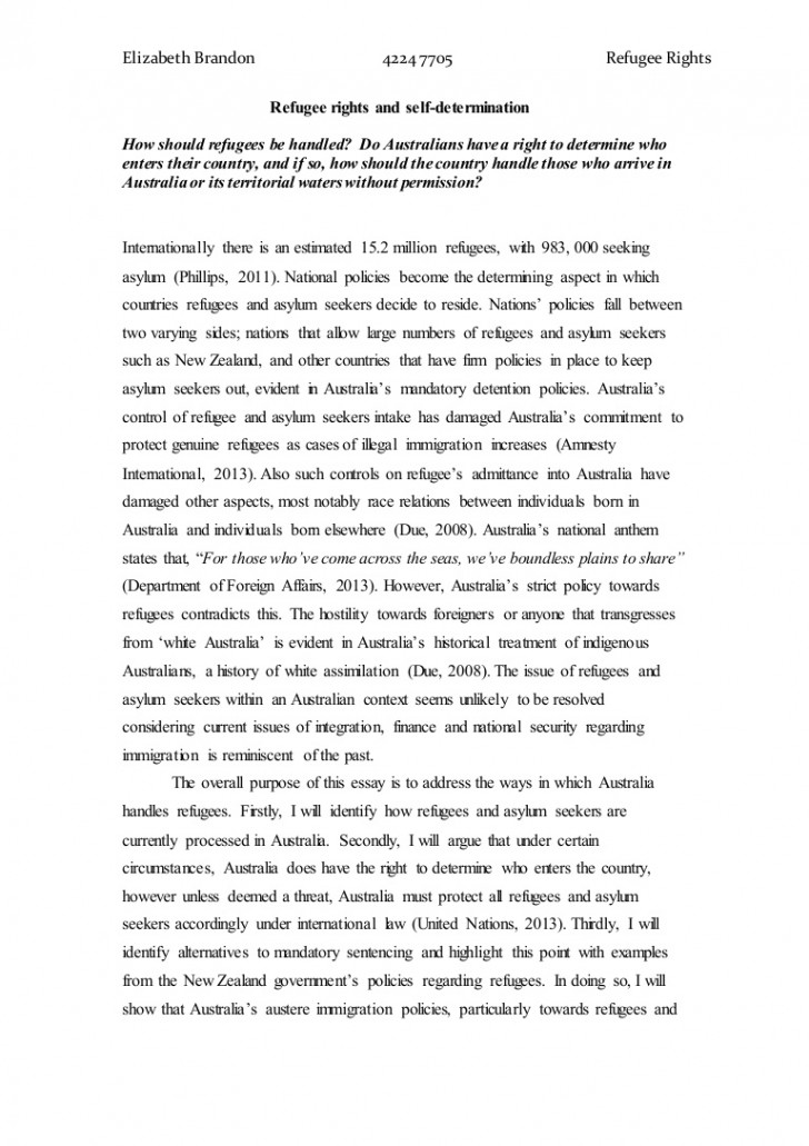 001 Essay Example About Staggering Refugees Syrian Argumentative Persuasive 728