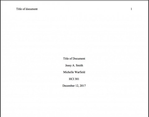 001 Essay Example Ama Format Sample Title Page Best 480