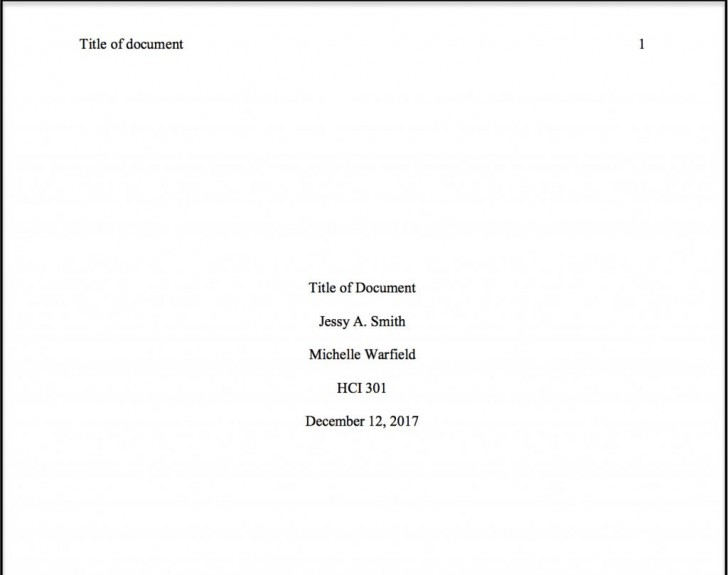 001 Essay Example Ama Format Sample Title Page Best 728