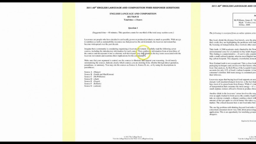 001 Essay Example Ap Lang Synthesis Archaicawful 2011 Examples 2014 Prompt