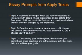 001 Essay Example Apply Texas Prompts Youtube Topic Examples Maxresde Archaicawful Topics Application Essays Fall 2018 Prompt C