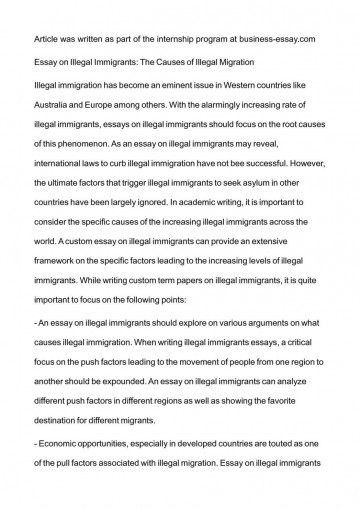 001 Essay Example Argumentative On Immigration Illegal Examp Exceptional College Examples Thesis Outline 360
