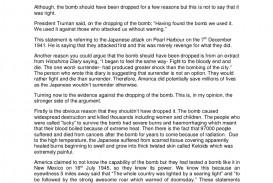 001 Essay Example Atomic Shocking Bomb Topics Questions Prompts