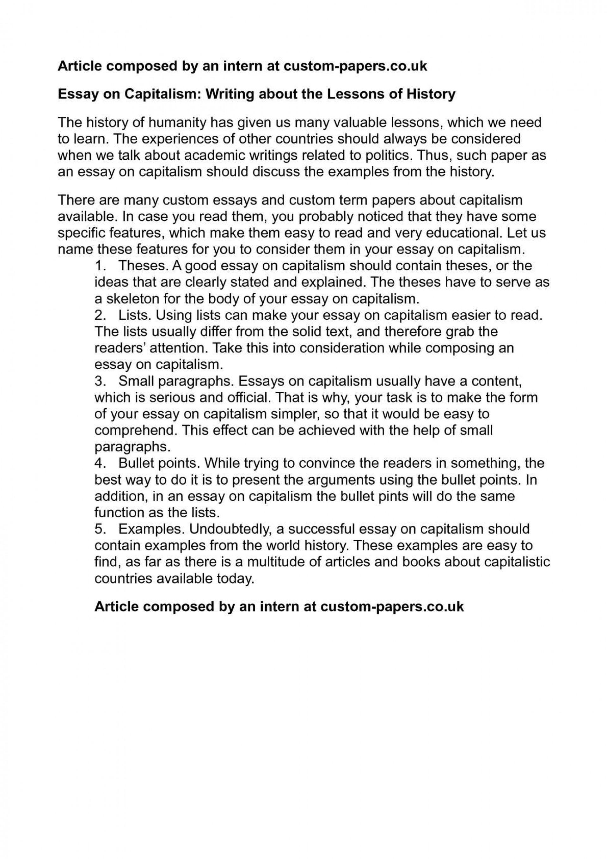 001 Essay Example Capitalism Breathtaking Topics Question Pdf 1920