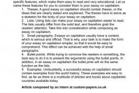 001 Essay Example Capitalism Breathtaking Topics Question Pdf