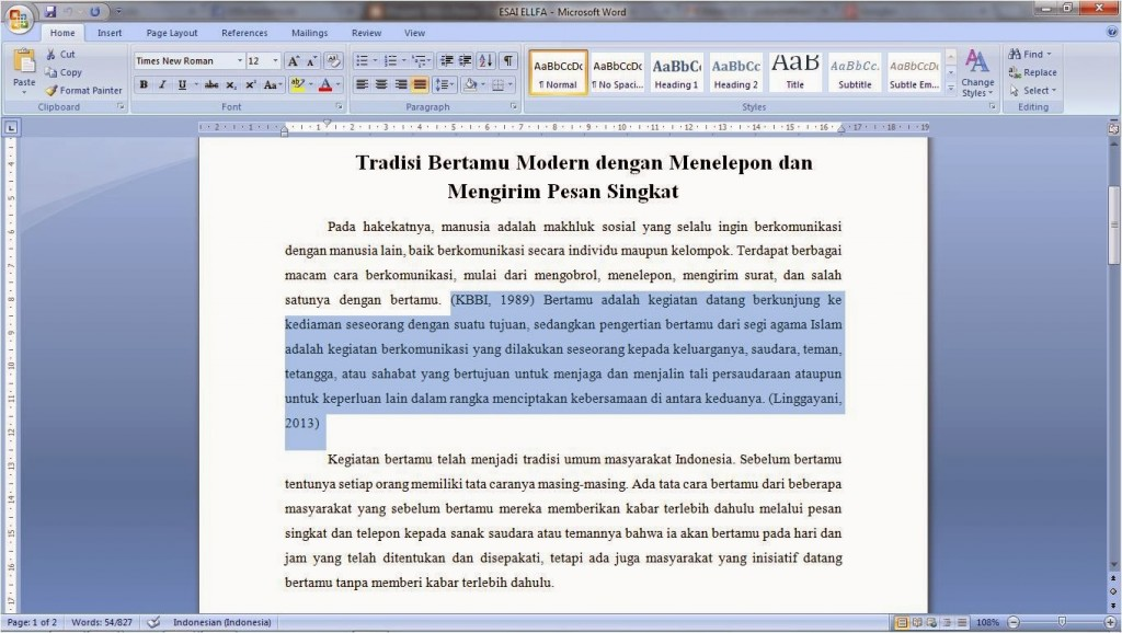 001 Essay Example Cara Menulis Astounding Membuat Argumentative Bahasa Indonesia Mudah Inggris Large