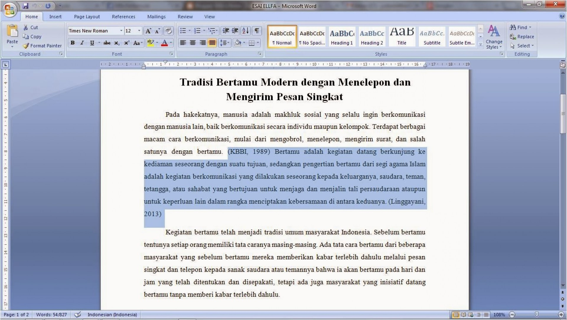 001 Essay Example Cara Menulis Astounding Membuat Argumentative Bahasa Indonesia Mudah Inggris 1920
