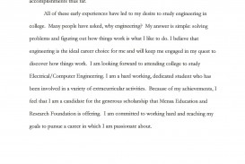 001 Essay Example Career Goals Examples Joshua Cate Imposing Scholarship Pdf Educational