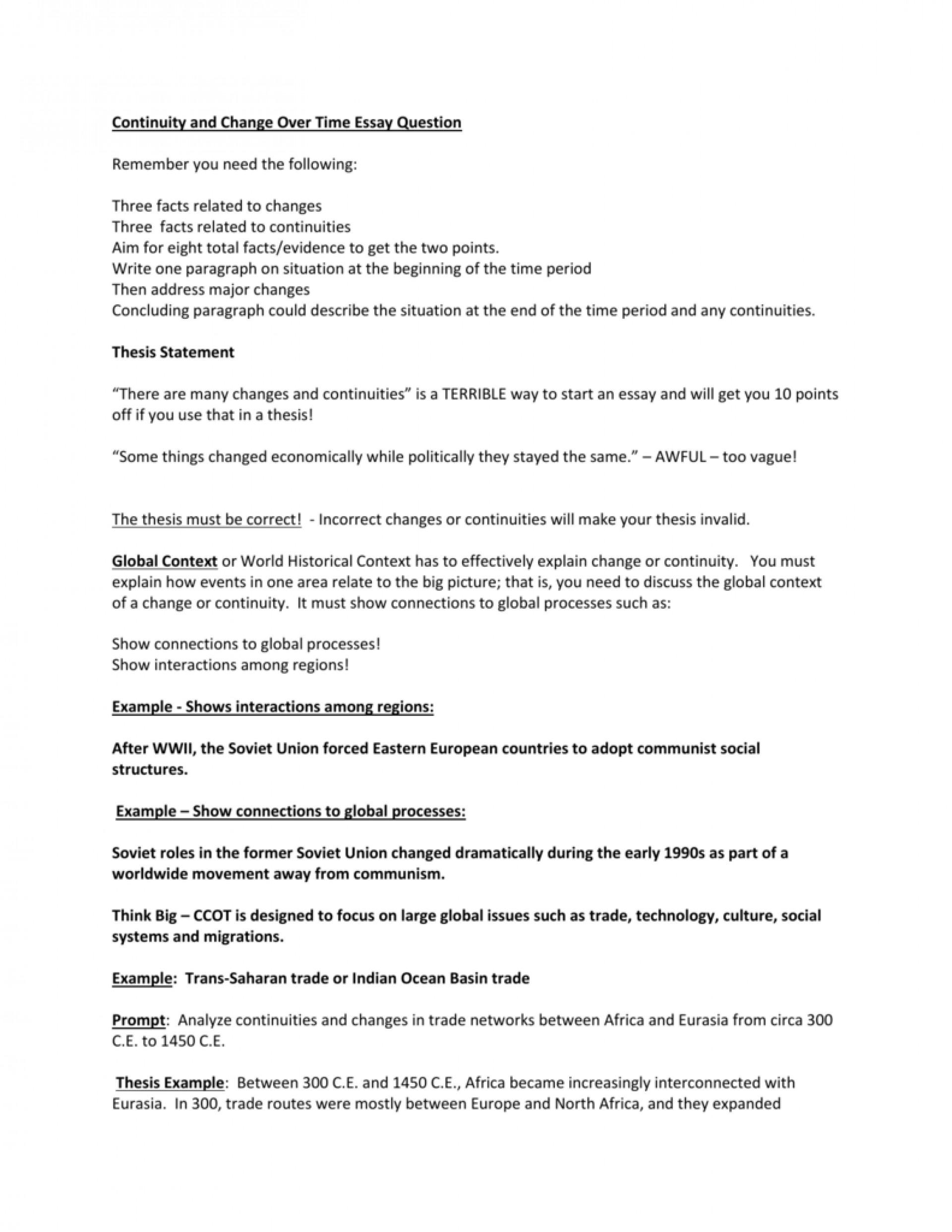 Comparison-contrast essay