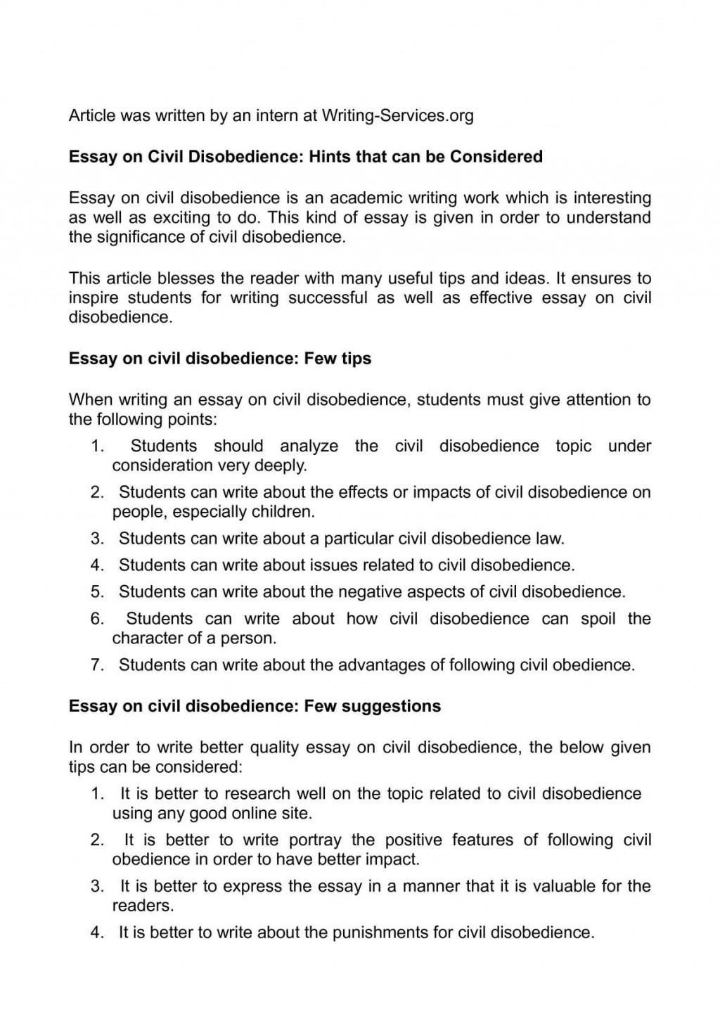 001 Essay Example Civil Disobedience Marvelous Quotes Thesis Questions Large