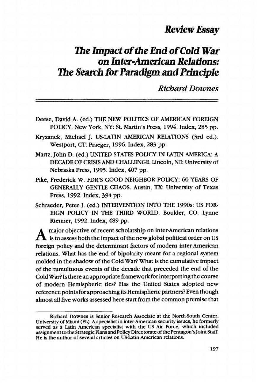 cold war extended essay topics