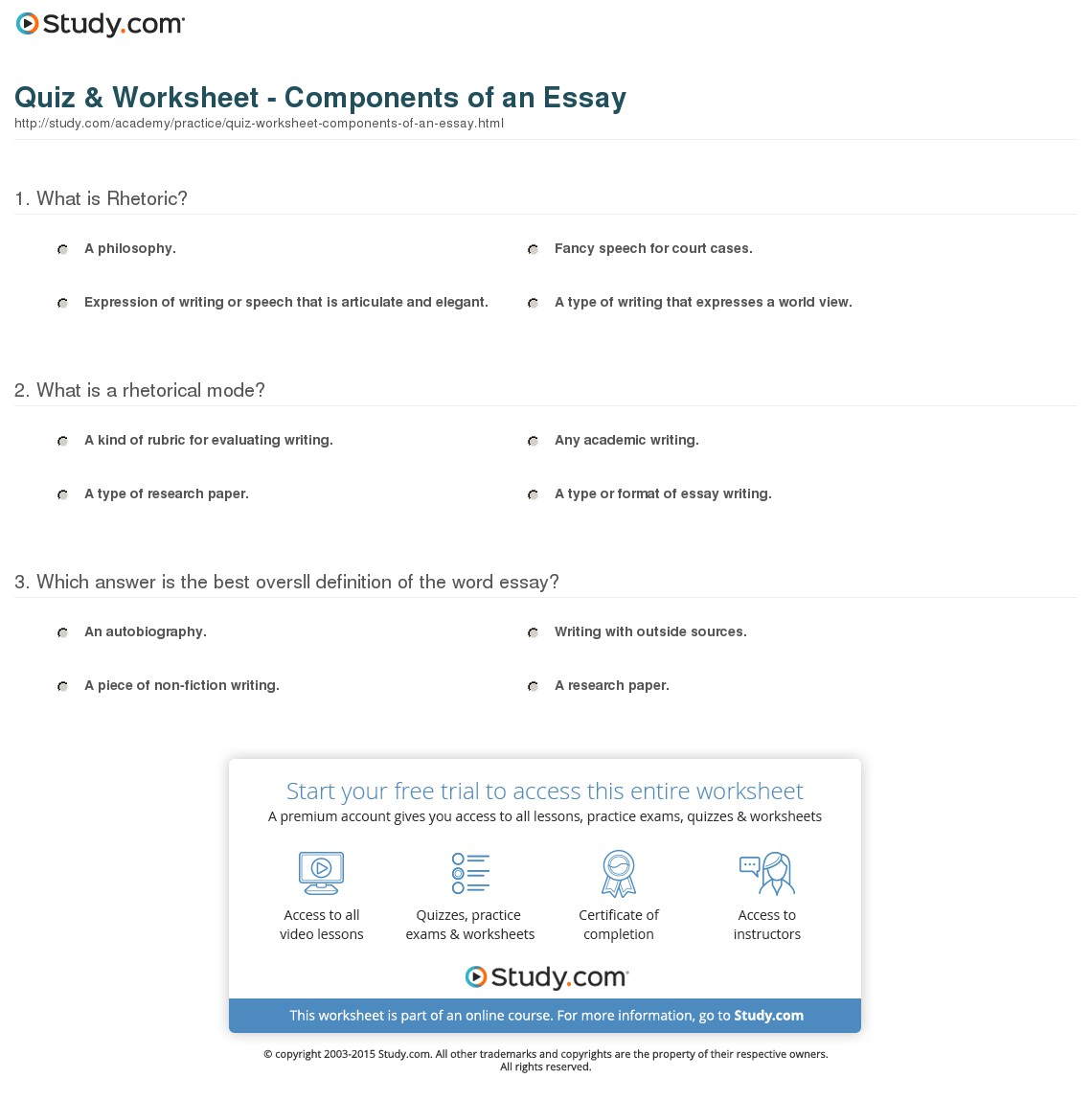 001 Essay Example Components Of An Quiz Stirring 5 Introduction Ten Expository Full