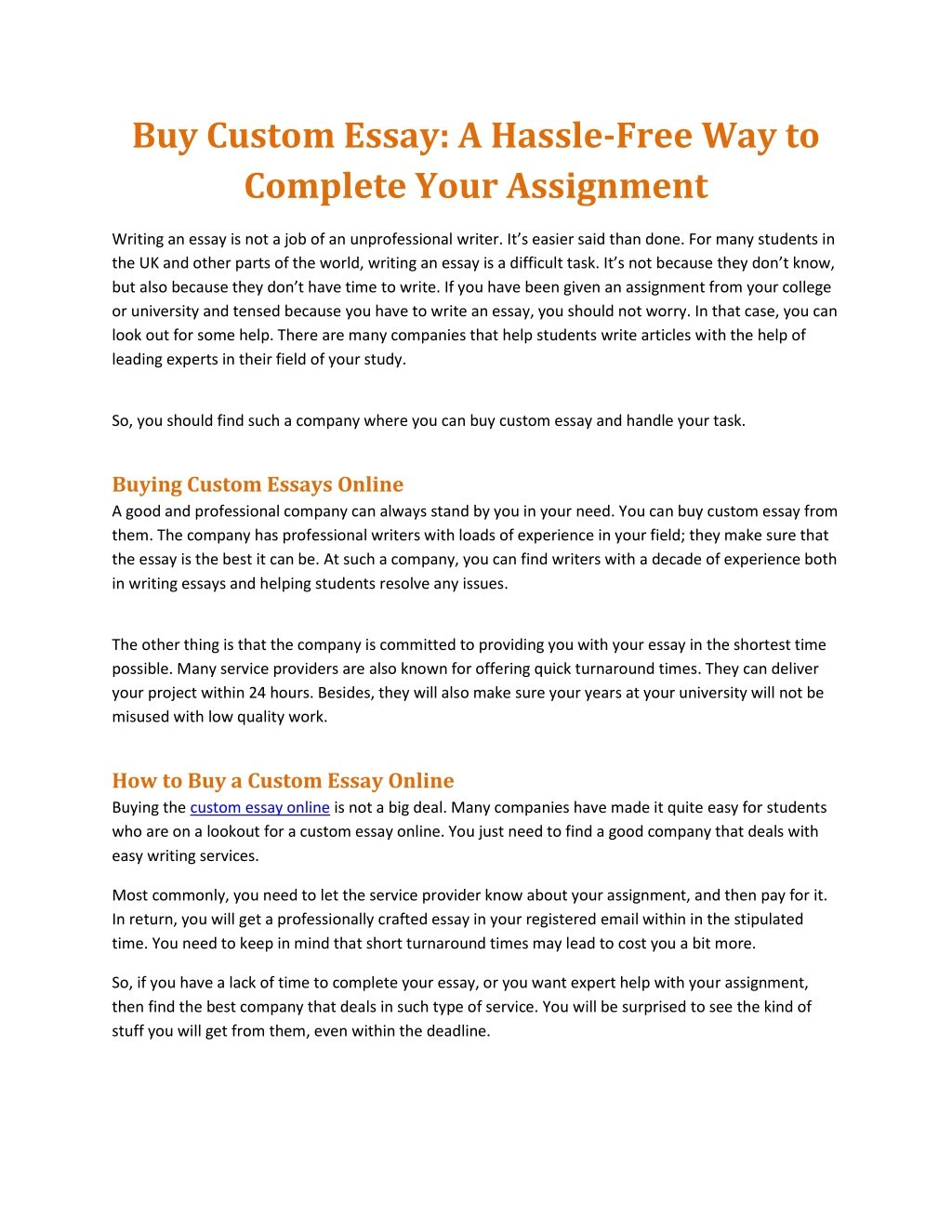 001 Essay Example Custom Order Buy Hassle Free Way To Complete Frightening Large