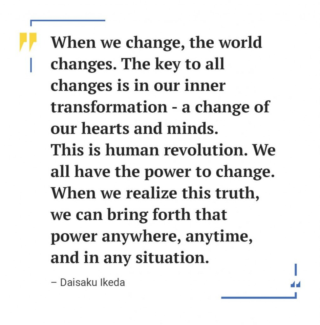 001 Essay Example Daisaku Ikeda Quote 1009x1024 Awesome Change Topics The World Contest Titles Large