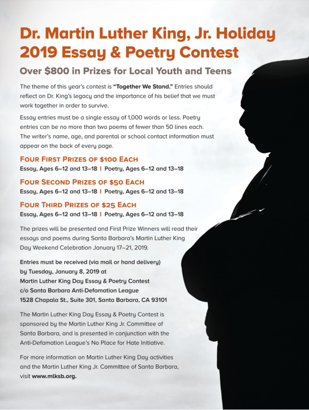 001 Essay Example Poetry Flyer Martin Luther King Remarkable Jr Contest Writing Prompts Outline Large