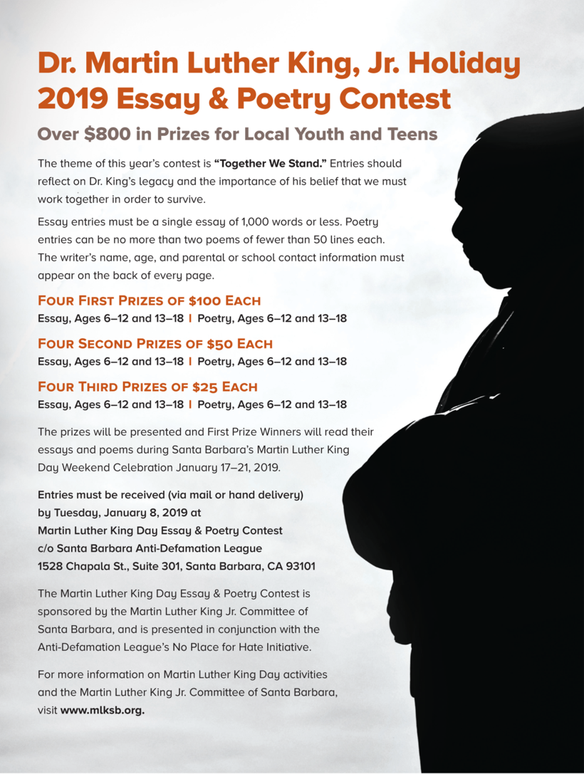 001 Essay Example Poetry Flyer Martin Luther King Remarkable Jr Contest Writing Prompts Outline Full