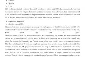 001 Essay Example Essaysampleglobalterrorismindex Thumbnail Wonderful Terrorism Topics In English War On