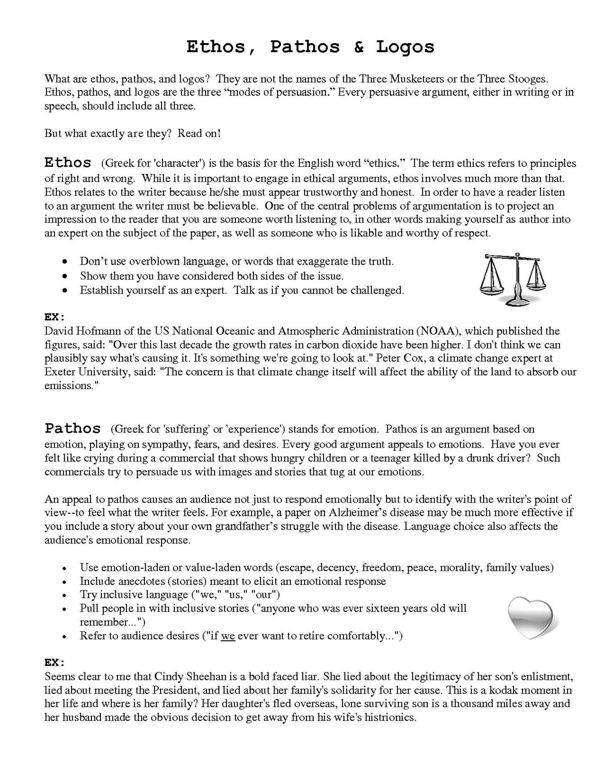 008 Ethos Pathos Logos Essay Example Using Rhetorical