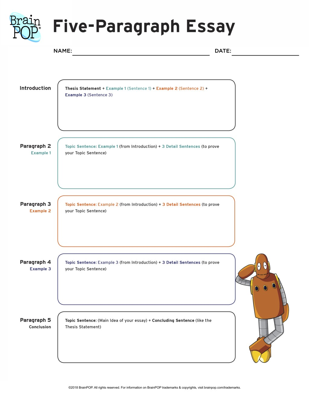 001 Essay Example Five Paragraph Graphic Wonderful Organizer 5 Middle School Doc Large