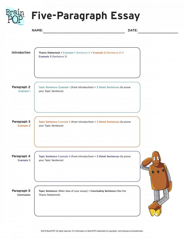 001 Essay Example Five Paragraph Graphic Wonderful Organizer High School Definition 5 Pdf 728