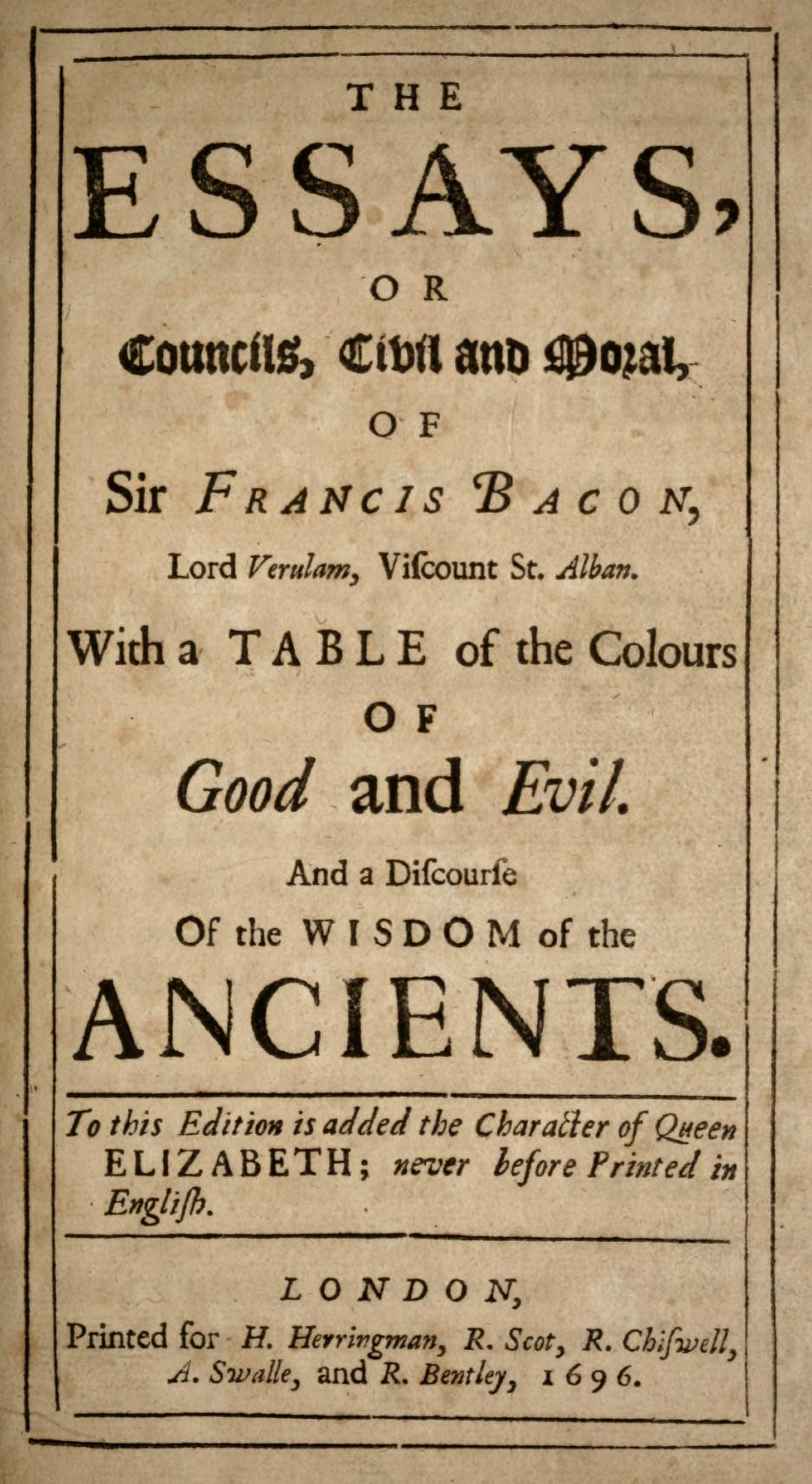 001 Essay Example Francis Bacon Essays 1696 Awesome Analysis Pdf Of Truth Download Critical Appreciation Bacon's 1920