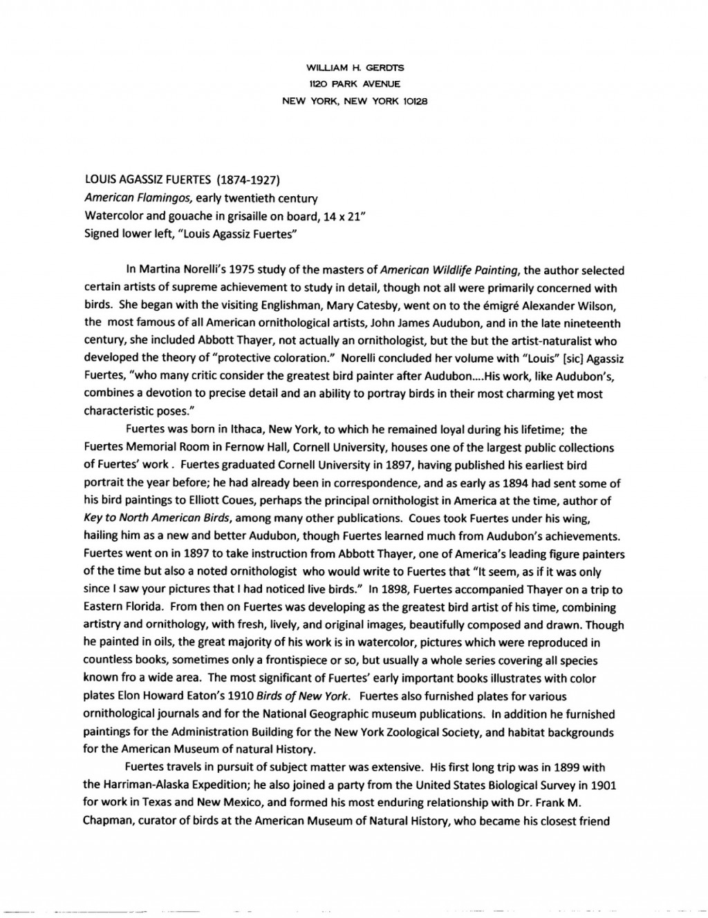 001 Essay Example Fuertes20american20flamingos20001 Graduate Fantastic School Sample Accounting Questions Counseling Large