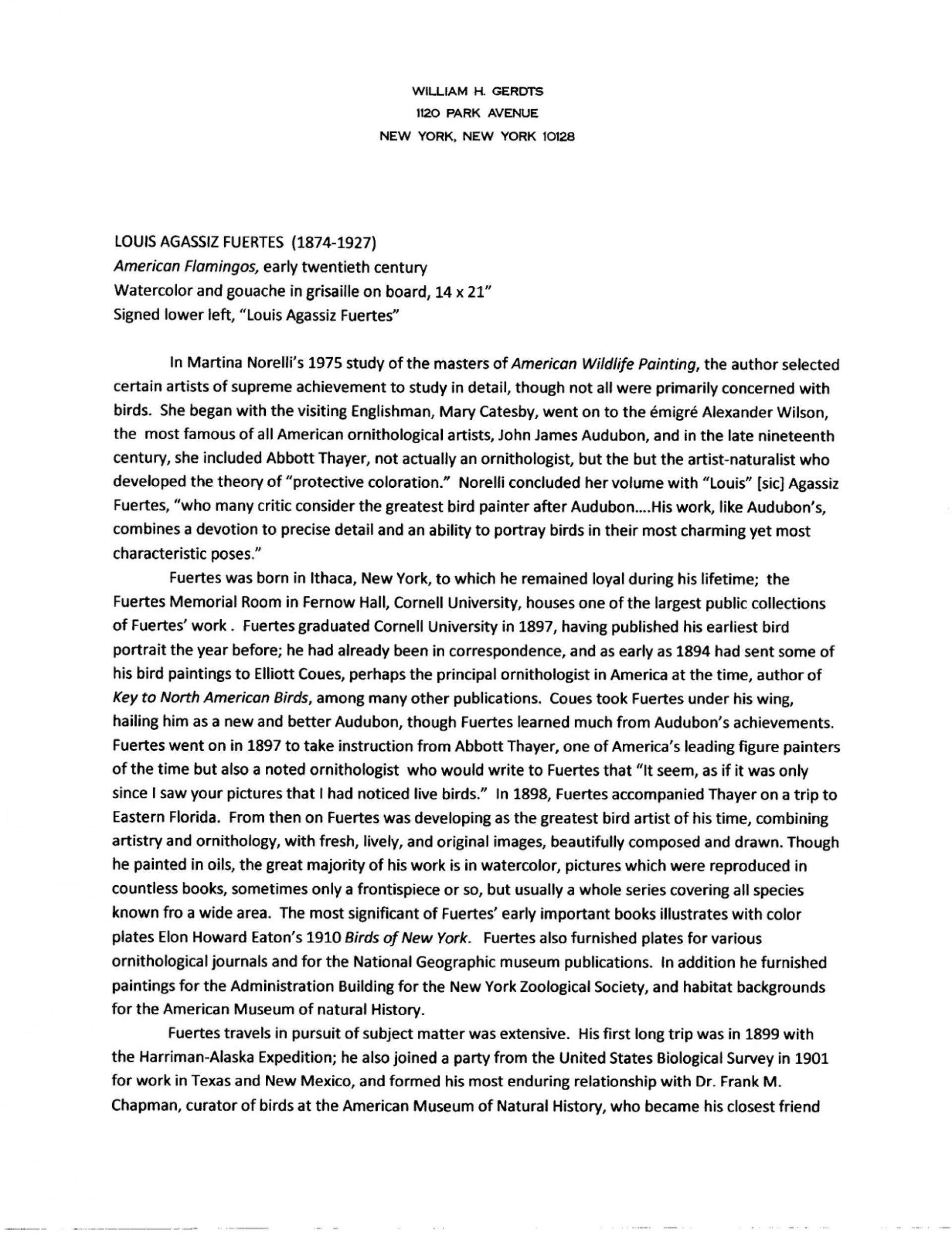 001 Essay Example Fuertes20american20flamingos20001 Graduate Fantastic School Examples Education Header Grad Sample Psychology 1920