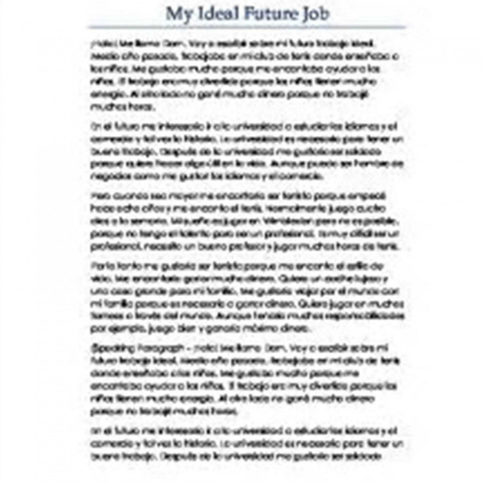 008 Future Plan Essay Example ~ Thatsnotus