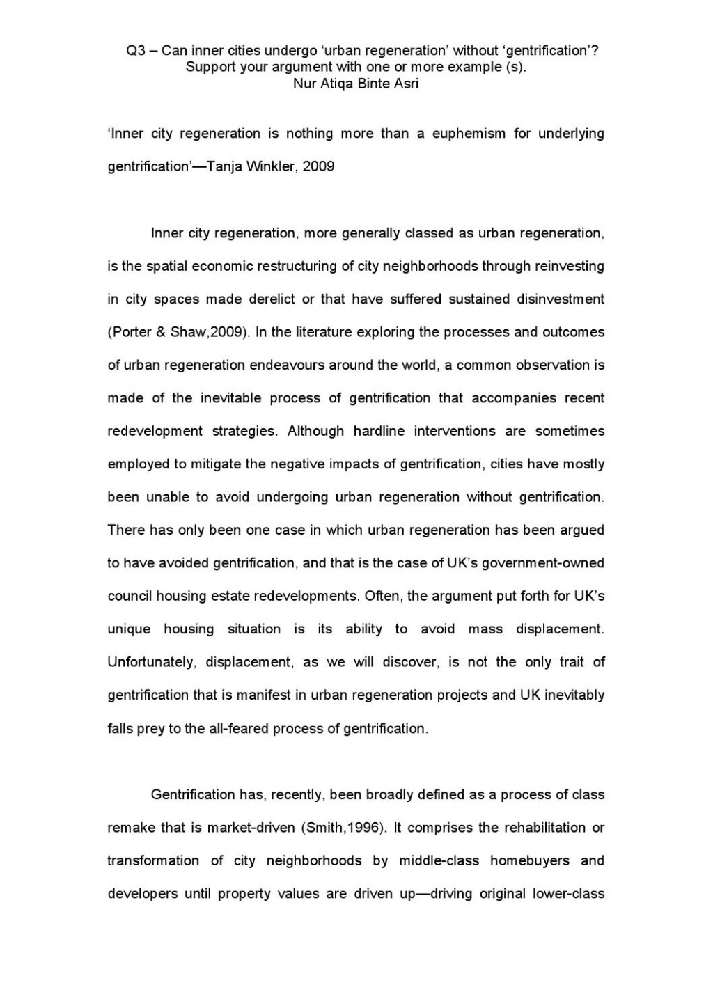001 Essay Example Gentrification Page 1 Sensational Topics Pdf Research Paper Large