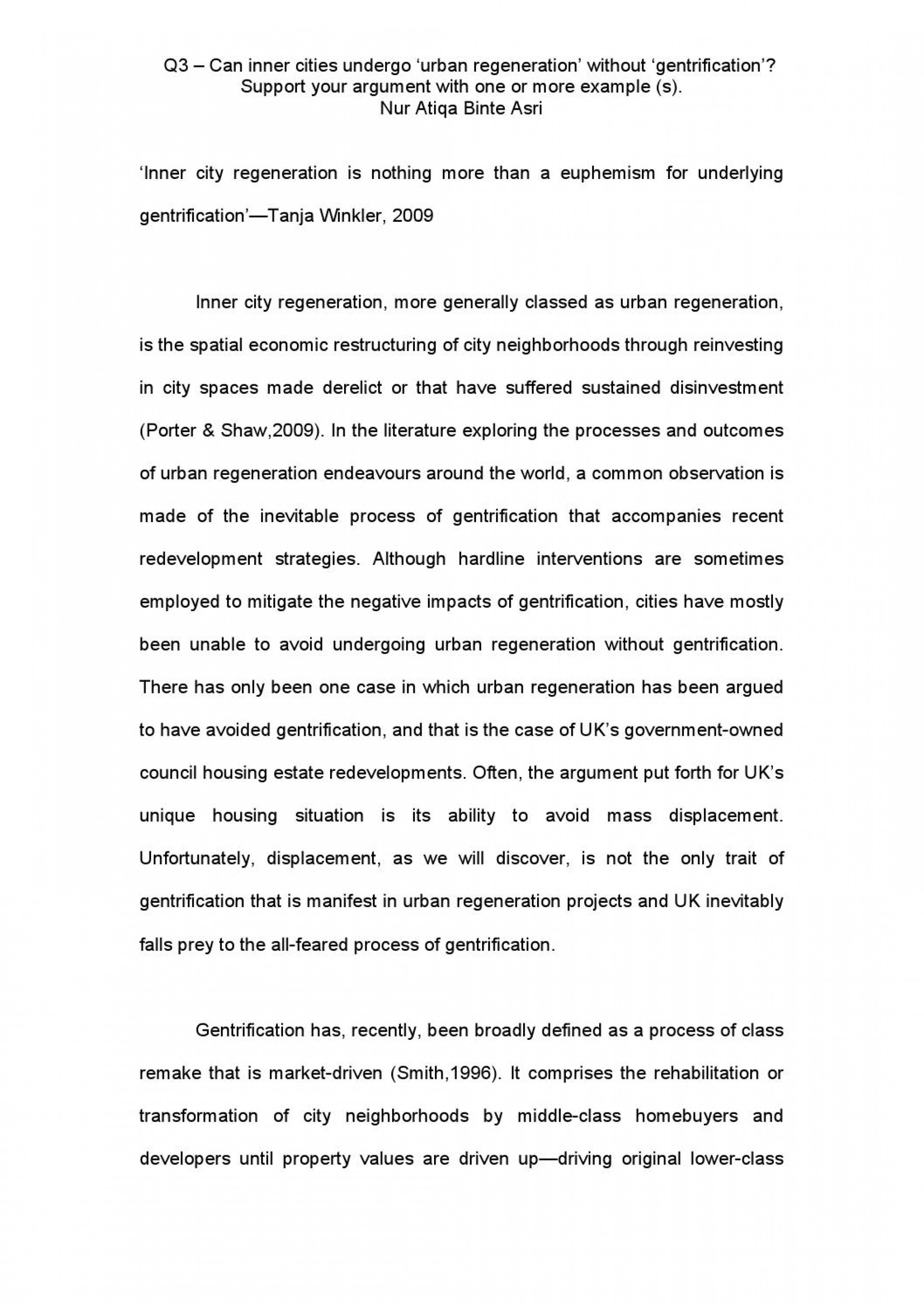 001 Essay Example Gentrification Page 1 Sensational Topics Pdf Research Paper 1920