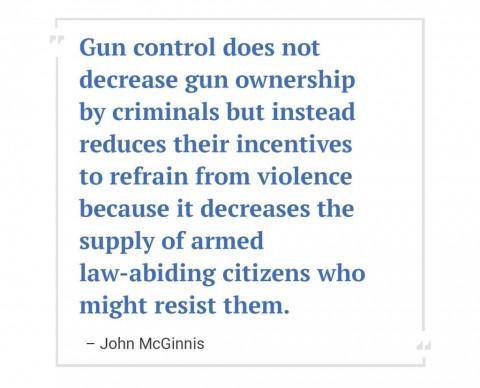 001 Essay Example Gun Control John Mcginnis Dreaded Outline Against Conclusion 480