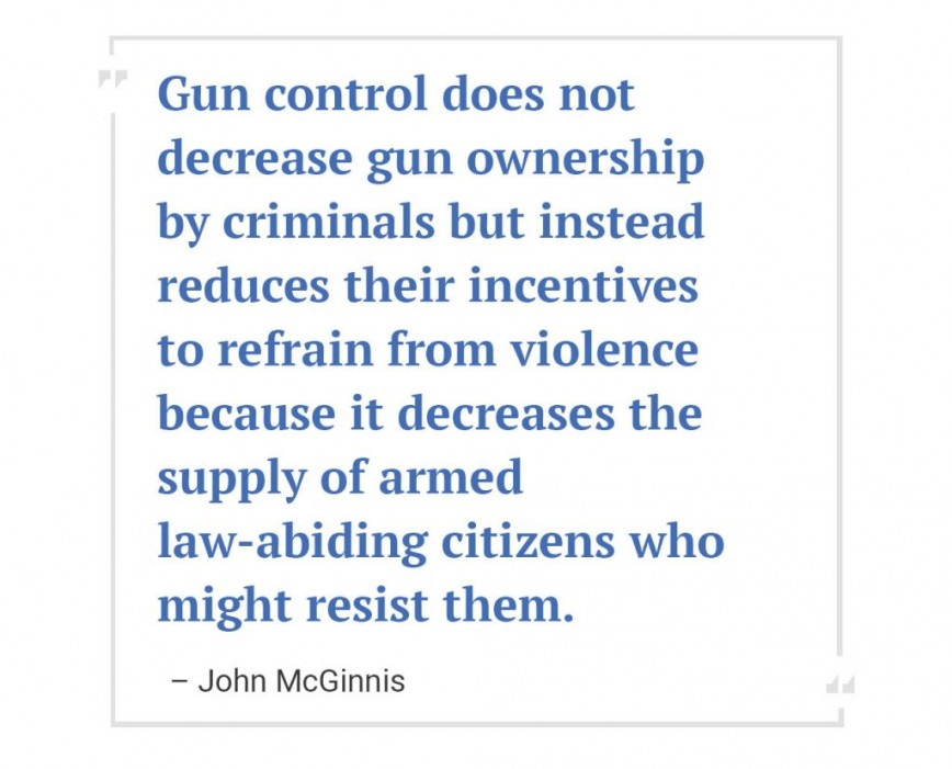 001 Essay Example Gun Control John Mcginnis Dreaded Outline Pro Conclusion