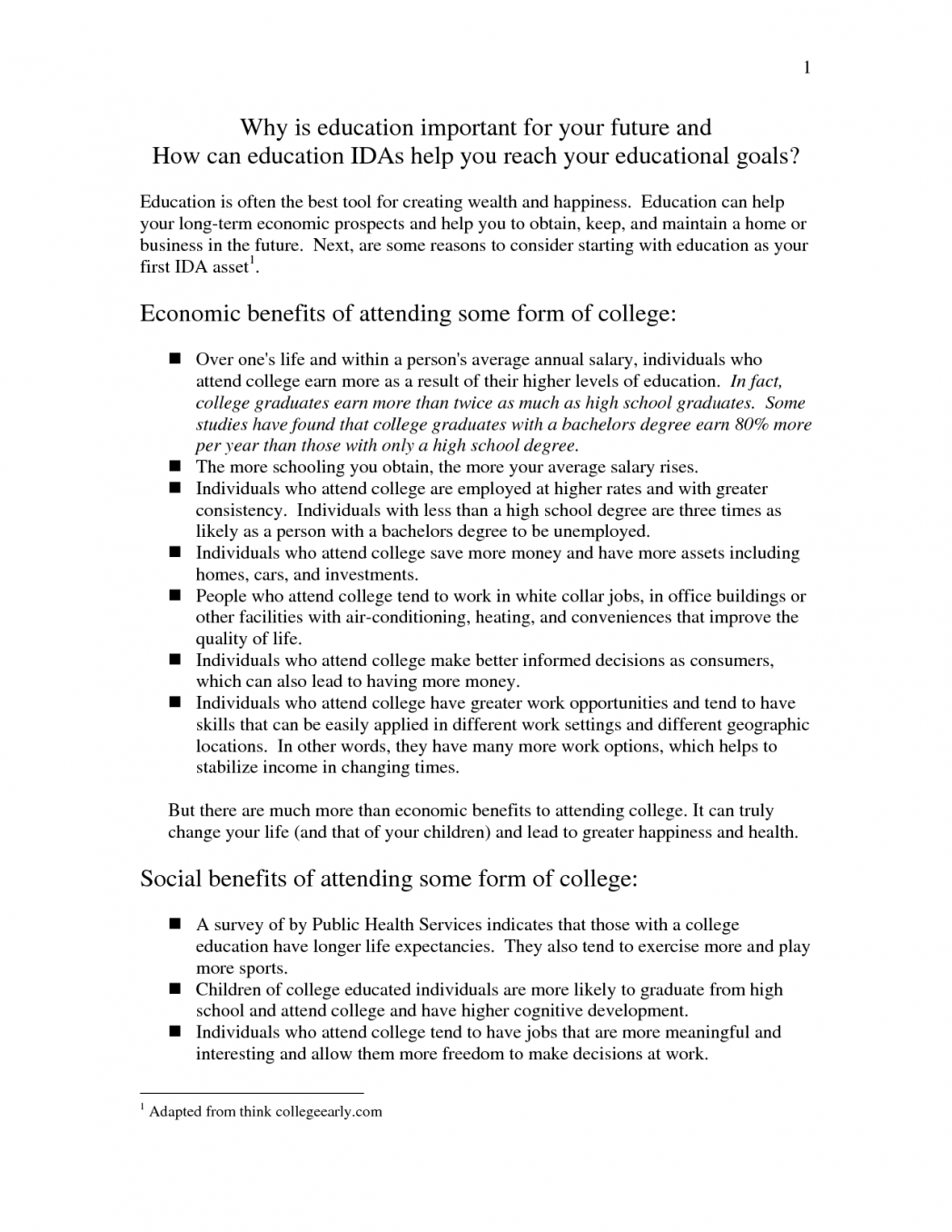 001 Essay Example Happiness Essays Education Definition Of How To Write An About Physical Why College Important 5 Educational Leadership Describing Your Goals Importance Online And Career Frightening Is In Our Life Full