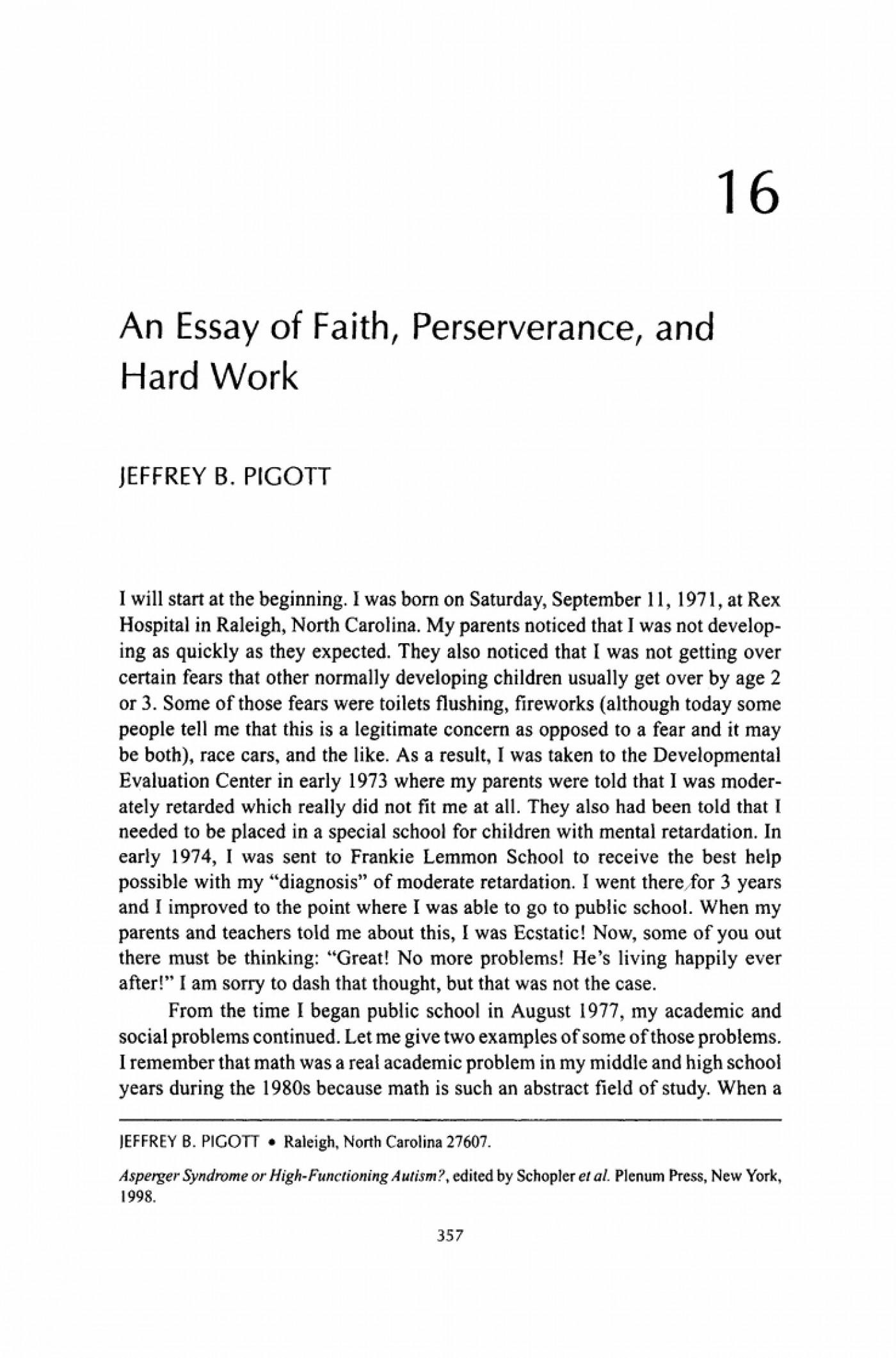 essay hard working student