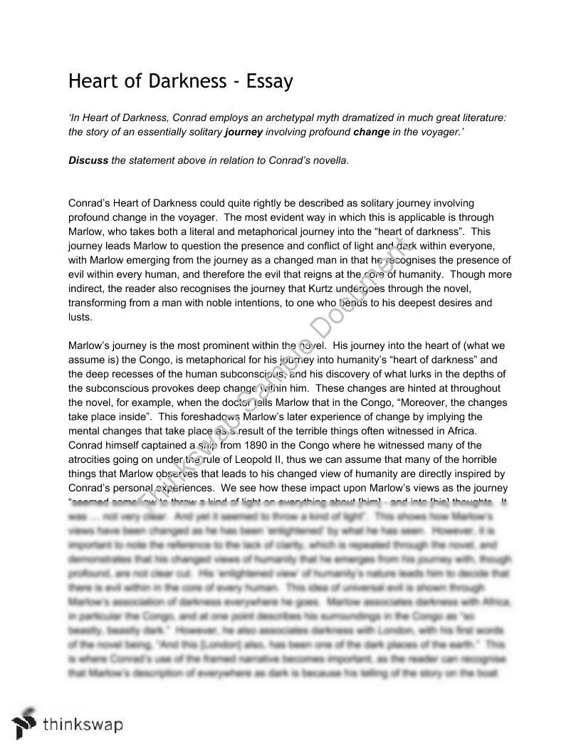 001 Essay Example Heart Of Darkness 60859 Heartofdarkness Fadded31 Wondrous Thesis Statement Topics Critical Essays Pdf Full