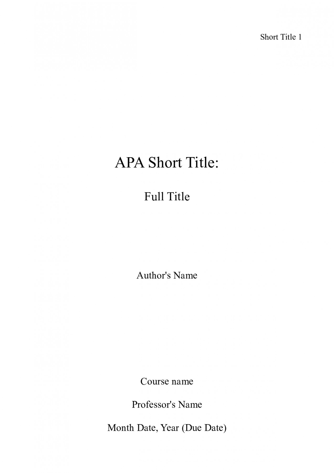 001 Essay Example How To Write Cover Page For An Apa Title Awesome A Contents Bibliography 1400