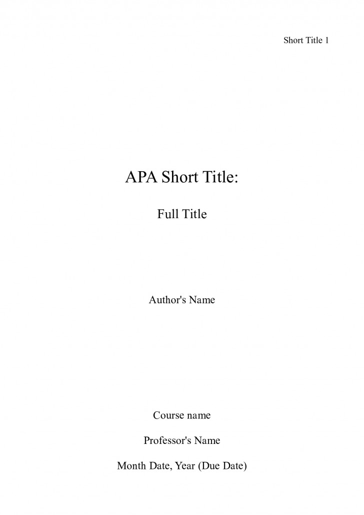 001 Essay Example How To Write Cover Page For An Apa Title Awesome A Contents Bibliography 728