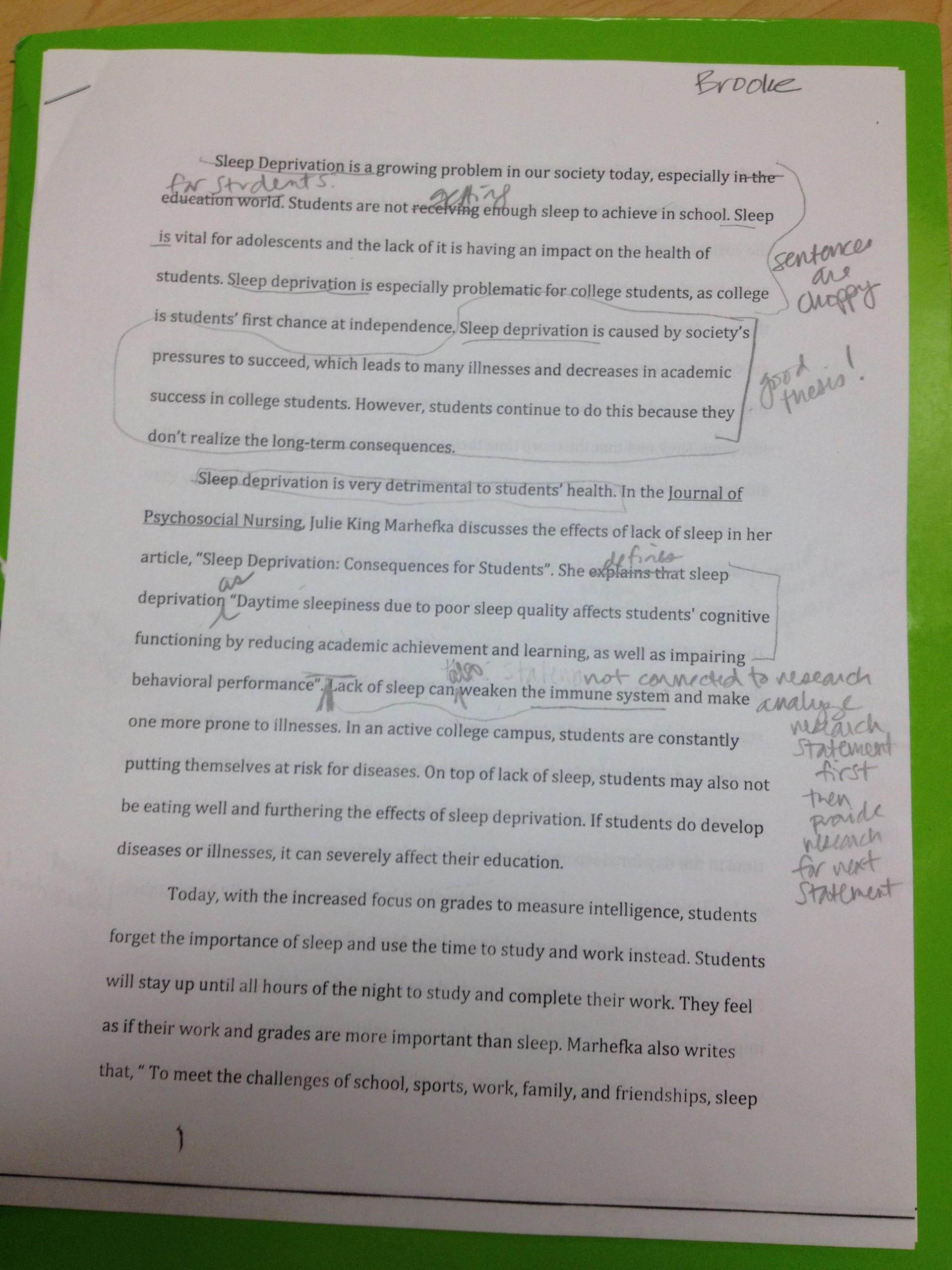 001 Essay Example Image Importance Of Breathtaking Sleep Pdf Spm Speech 1920