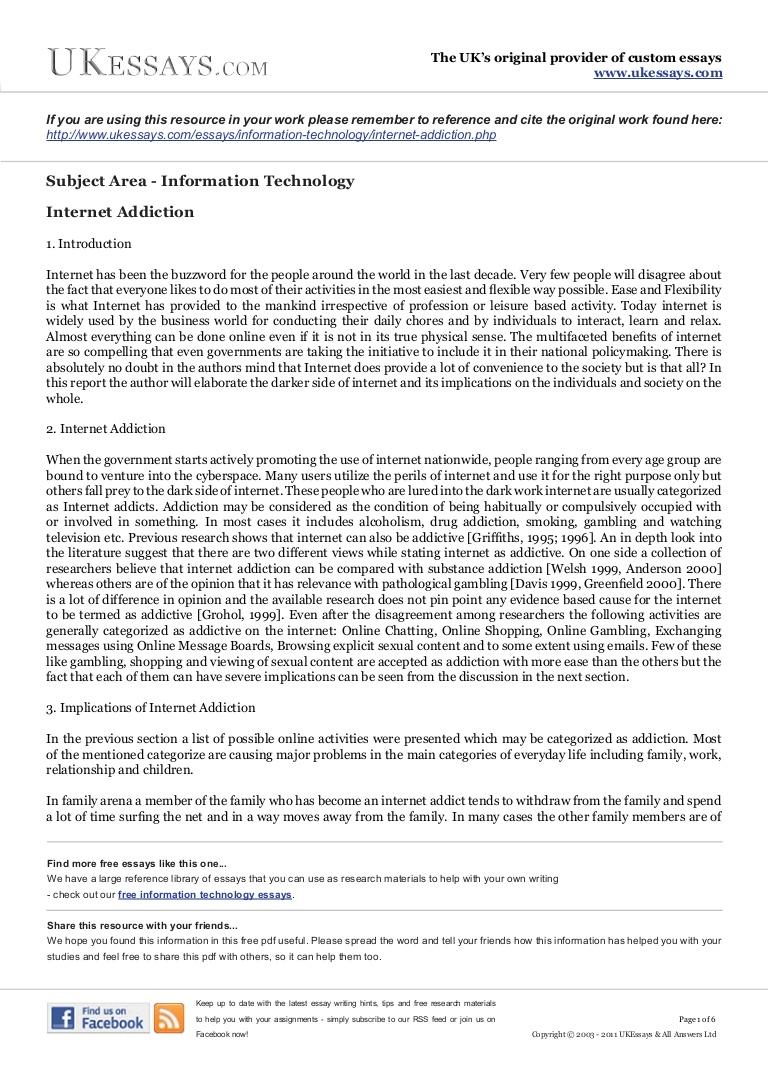 001 Essay Example Internet Addiction Phpapp01 Thumbnail Dreaded In Hindi Urdu 200 Words Full